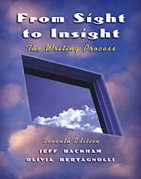 9780838407004: From Sight to Insight: The Writing Process (with InfoTrac)