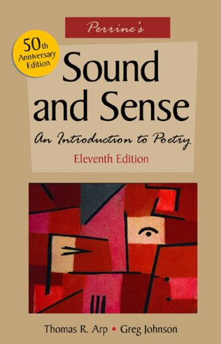 9780838407462: Perrine's Sound and Sense: An Introduction to Poetry