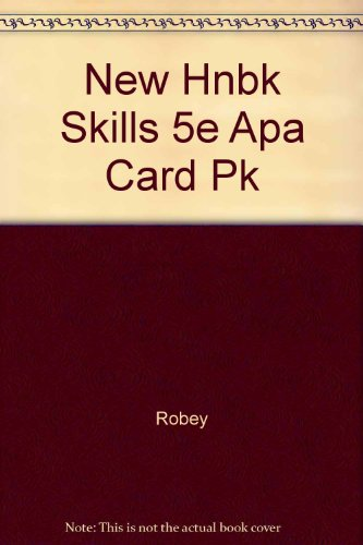 9780838408162: New Handbook of Basic Writing Skills with APA Update Card