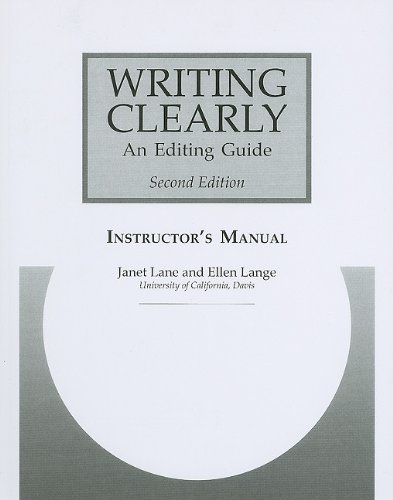 9780838409855: Writing Clearly Instructor's Manual: An Editing Guide