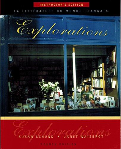 9780838411896: Explorations: LA Litterature Du Monde Francais