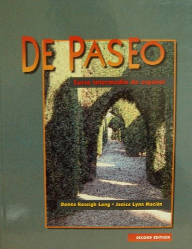 9780838411926: De paseo: Curso intermedio de espanol, Secondary Version