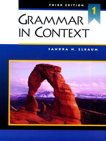 9780838412688: Grammar in Context 1, Third Edition (Student Book)