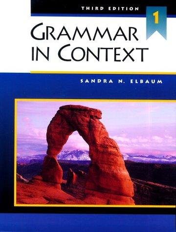 9780838412688: Grammar in Context 1, Third Edition (Student Book)