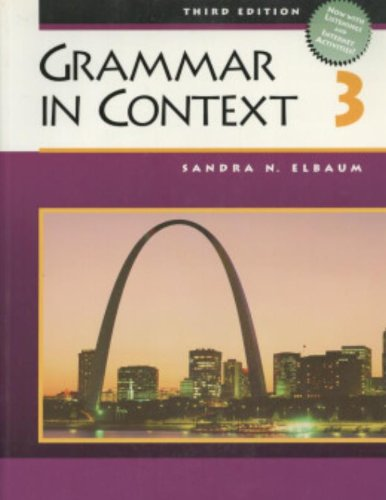 9780838412725: Grammar in Context 3, Third Edition (Student Book)