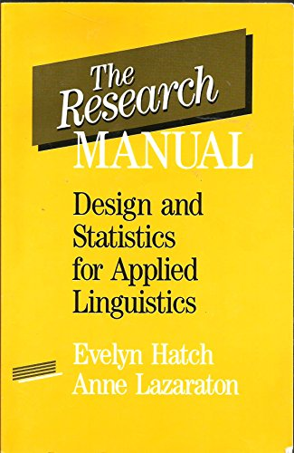 9780838426722: The Research Manual: Design and Statistics for Applied Linguistics