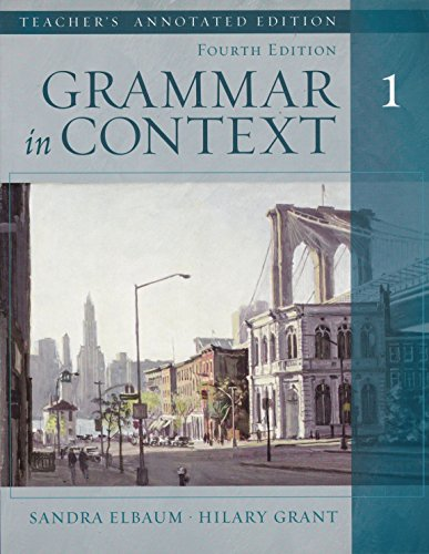 9780838426869: Grammar in Context Book 1