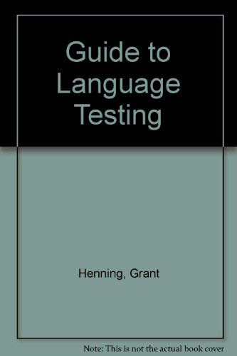 9780838426937: A Guide to Language Testing: Development, Evaluation, Research
