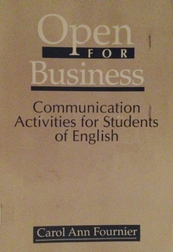 9780838427514: Open for Business: Communication Activities for Students of English