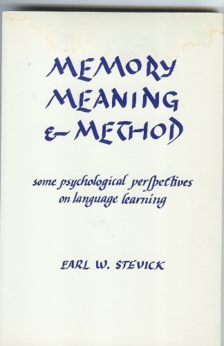 9780838427736: Memory, Meaning and Method