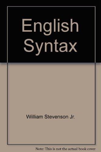 9780838429174: English Syntax