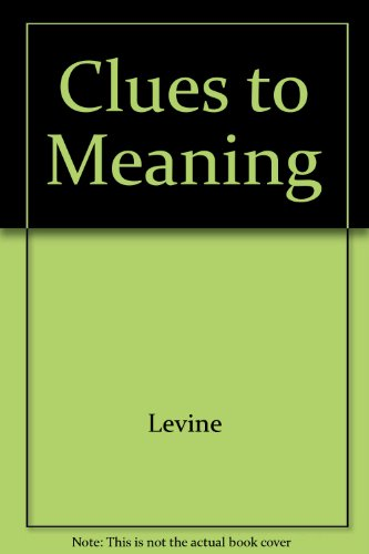 9780838433485: Clues to Meaning: Strategies for Better Reading Comprehension