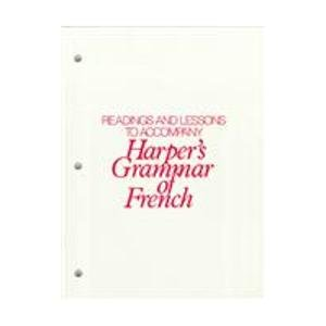 9780838437476: Readings (with Lessons) for Harper's Grammar of French