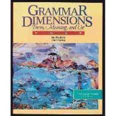 9780838439685: Grammar Dimensions: Form, Meaning, And Use