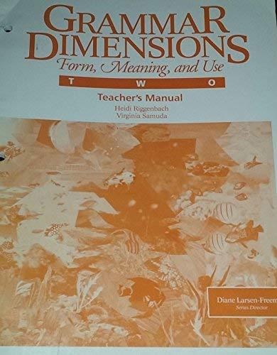 9780838441282: Grammar Dimensions Book 2/Instructors Manual