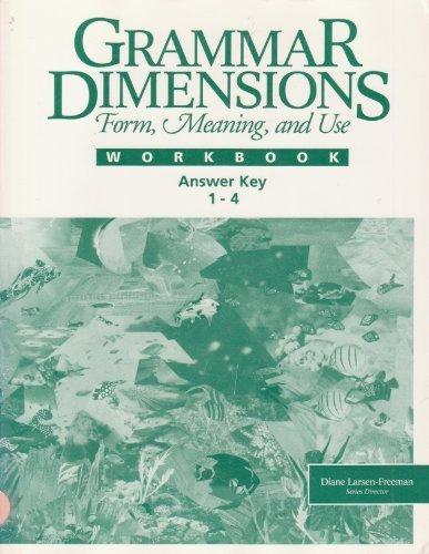 9780838443569: Answer Key for Grammar Dimensions Workbook 1-4: Workbooks 1-4