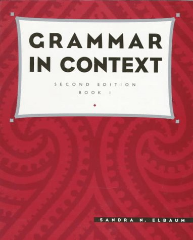 9780838446881: Grammar in Context, Book 1