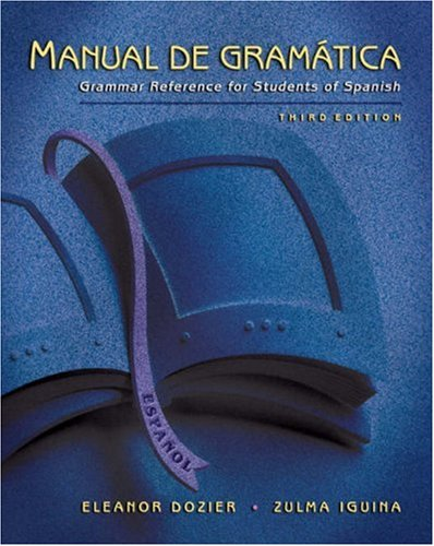 9780838450963: Manual de gramatica: Grammar Reference for Students of Spanish, High School Version