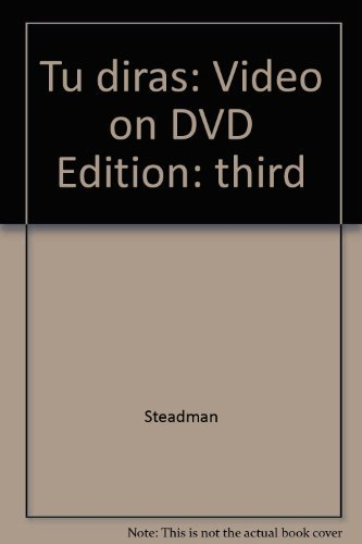 9780838452431: Tu diras: Video on DVD