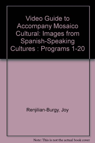 9780838453261: Video Guide to Accompany Mosaico Cultural: Images from Spanish-Speaking Cultures : Programs 1-20