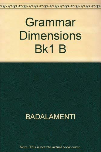 Grammar Dimensions Bk1 B: BADALAMENTI, STANGHINA
