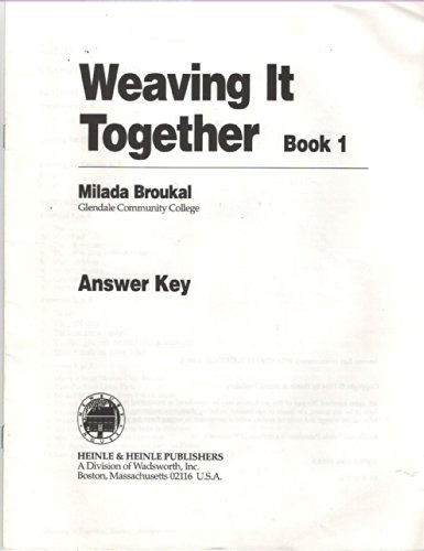 9780838454145: Weaving It Together 1: Answer Key
