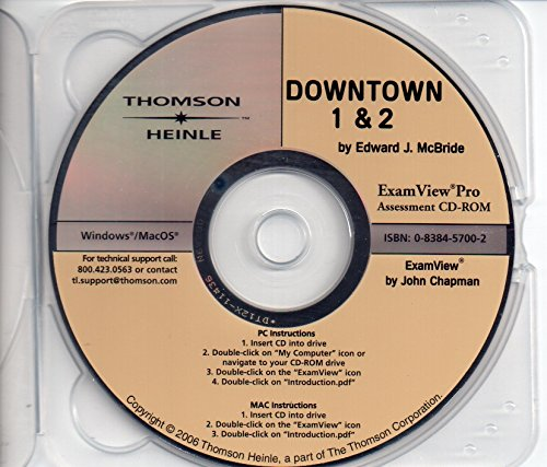 9780838457009: Downtown: Assessment CD-ROM WITH Examview Pro