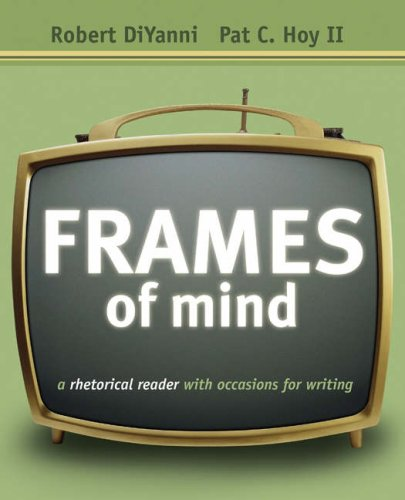 9780838460894: Frames of Mind: A Rhetorical Reader with Occasions for Writing (with Comp21 CD-ROM and InfoTrac)