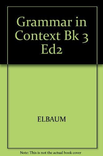 9780838466513: Grammar in Context Book 3