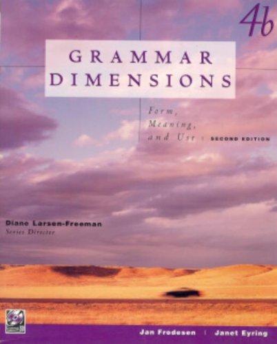 Grammar Dimensions: Jan Frodesen, Jane