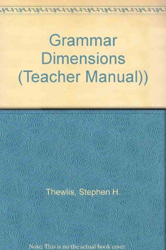9780838473818: Grammar Dimensions (Teacher Manual))