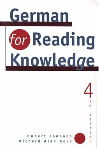 9780838478356: German for Reading Knowledge
