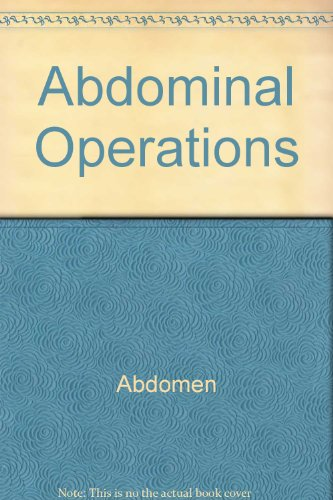 9780838500460: Abdominal Operations