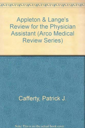 9780838500651: Appleton & Lange Review: Physician Assistant