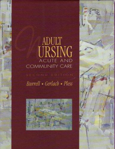 9780838501740: Adult Nursing (2nd Edition)