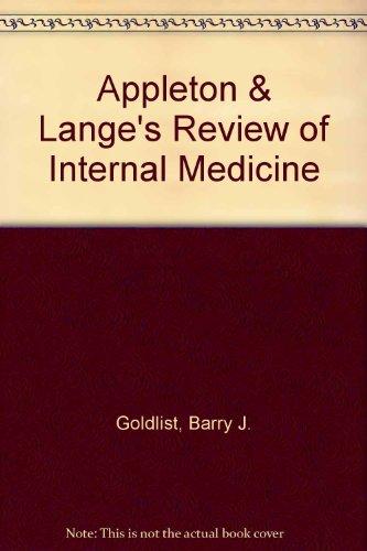 9780838501931: Appleton & Lange's Review of Internal Medicine