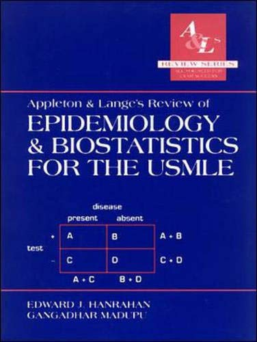 9780838502440: Appleton and Lange's Review of Epidemiology and Biostatistics for the USMLE