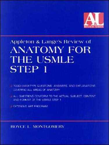 9780838502464: Appleton and Lange's Review of Anatomy for the USMLE Step 1