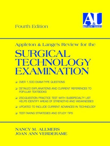 9780838502709: Appleton and Lange's Review for the Surgical Technology Examination