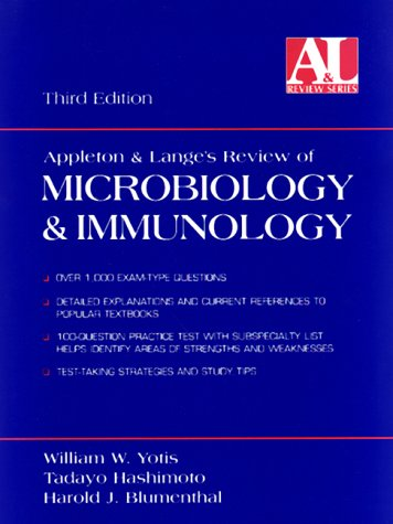 9780838502730: Appleton and Lange's Review for Microbiology and Immunology