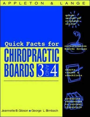 9780838503867: Appleton & Lange's Review for the Chiropractic Boards 3-4