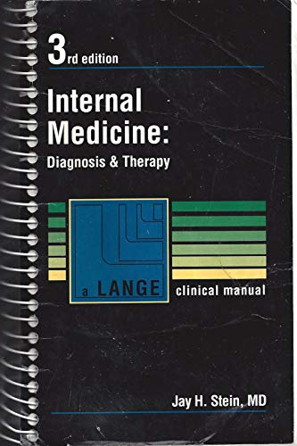 9780838511121: Internal Medicine: Diagnosis and Therapy (A Lange Clinical Manual)
