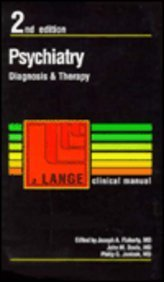 9780838512678: Psychiatry Diagnosis & Therapy Second Edition