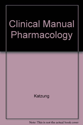 9780838512814: Clinical Manual Pharmacology (A Lange clinical manual)
