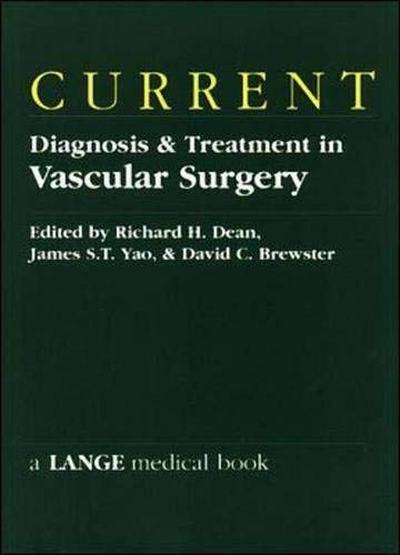 9780838513514: CURRENT Diagnosis & Treatment in Vascular Surgery (Lange Medical Books)