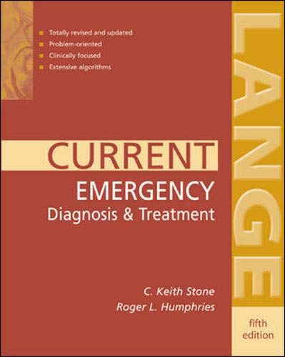 9780838514504: CURRENT Emergency Diagnosis & Treatment (LANGE CURRENT Series)