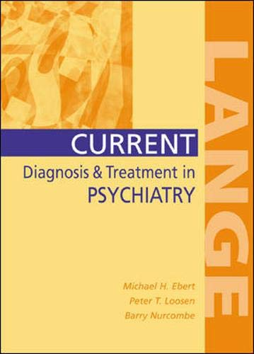 9780838514627: Current Diagnosis & Treatment in Psychiatry (Lange Medical Books)
