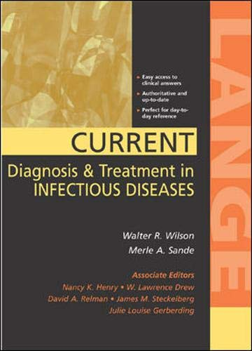 9780838514948: Current Diagnosis & Treatment in Infectious Diseases