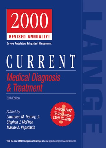 9780838515914: Current Medical Diagnosis & Treatment : 2000 Revised