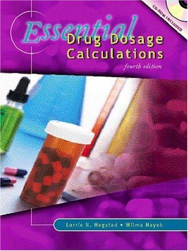 9780838522851: Essential Drug Dosage Calculations